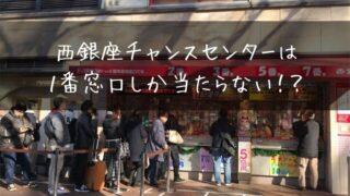 西銀座チャンスセンターの宝くじ売り場