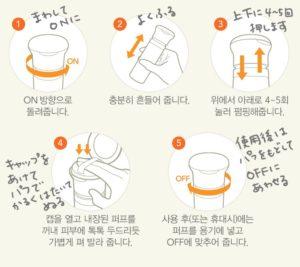 アイスパフサンの使い方説明図
