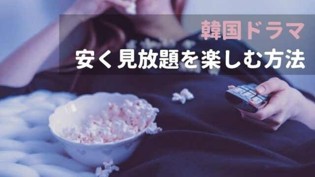 【韓国ドラマ】コスパがいい動画配信サービスはここ!安く見放題を楽しむ方法